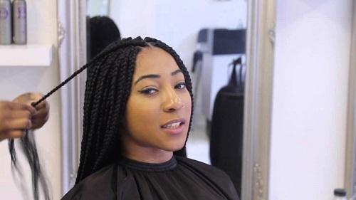 coiffure cheveux crépus box braids