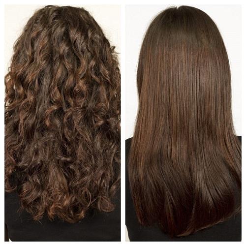 Lisseur vapeur Babyliss Cheveux Avant et Après le lissage